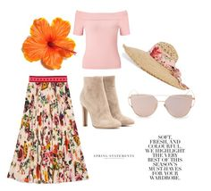 """""""Spring statements"""" by alicefox149 on Polyvore featuring Miss Selfridge, Gucci, Gianvito Rossi and Folio"""