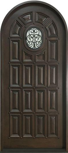 Mahogany Solid Wood Front Entry Door - Single