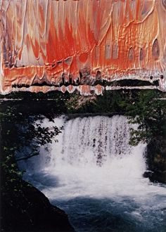 Gerhard Richter-oil on colour photograph