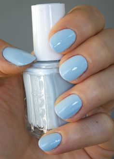 essie borrowed and blue - click through for more swatch pictures! :)