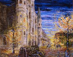 Jackson Square Benches  matted to fit 16x20  PRINT by StaceyFabre - Houma, LA impasto artist