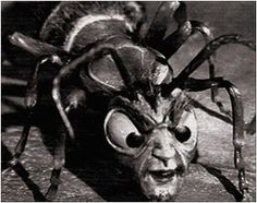 "The ant creature from THE OUTER LIMITS ""The Zanti Misfits"" (1963), stop-motion effects by Project Unlimited."