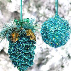 Glitter ornaments Houzz.com