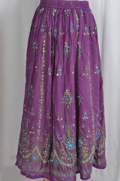 Indian Maxi Gypsy Bohemian Long Skirt Bollywood Boho by VedaVastra, $20.00