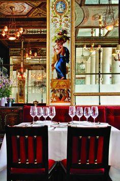 Restaurant Le Grand Véfour by Chef Guy Martin, 17 Rue de Beaujolais, Paris 1er.