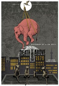 Death From Above 1979 by Pat Hamou  Weird that I repinned a similar photo to this, sadly this means that ellies were commonly moved in this way, not just a concept in an illustration