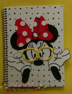 Where Can I Buy Carpet Runners Referral: 5713918853 Foam Crafts, Diy Arts And Crafts, Cute Crafts, Kids Crafts, Paper Crafts, Diy Notebook, Notebook Covers, Miki Mouse, Altered Composition Notebooks