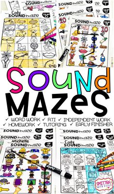 Looking for a fun way to have your students practice identifying their phonics sound pattern? Check out SOUND MAZES! Students find their way through the maze by identifying the sounds in each picture. Students connect the pictures that have the assigned sound.