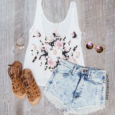 Elza Tank Top - White
