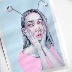 "3,155 Likes, 22 Comments - Anna 👽 (@magicalien) on Instagram: ""A small painting I made that's probably never going to be finished"""