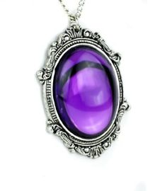 cool Gothic Victorian Purple Stone Vampire Necklace Jewelry