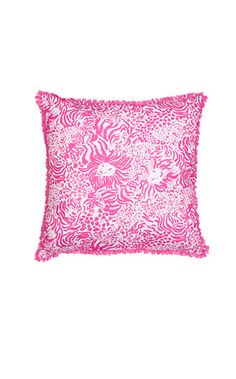 Lilly Pulitzer Large indoor/Outdoor Pillow Zoo Party