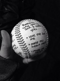 "Cute valentines gift for boyfriend. ""Reasons why you're such a catch you..."" #boyfriend #baseball #valentines"