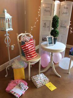 Bon Jour! Bon Jour! How we turned yard sale finds into a Paris birthday party theme! #parisbirthdayparty #girlbirthdayparty #chalkpaintedfurniture #yardsalefinds #birthdayonabudget #Frenchcafe #vintageandco #vintageandcompany #roomdivider #icecreamparlor #icecreamparty #sundaesinparis #sundaes #furnituremakeover