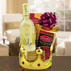 Pin by design it yourself gifts baskets on gift baskets queen for a day white wine gift basket solutioingenieria Image collections