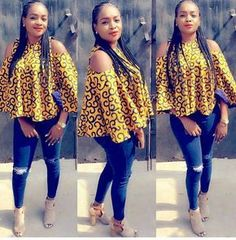 Latest Ankara Tops for ladies version) - Esther Adeniyi African American Fashion, African Fashion Ankara, African Fashion Designers, African Print Fashion, African Print Dresses, Africa Fashion, African Dress, Ankara Dress, Tribal Fashion