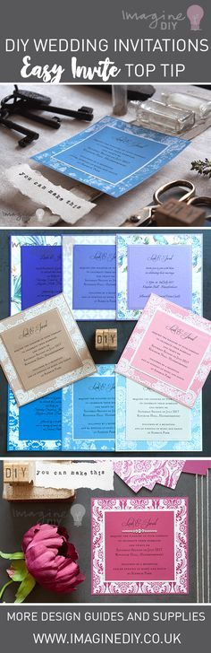easy DIY wedding invitation insert