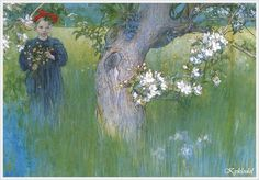 1898 год. Carl Larsson (Swedish, 1853 – 1919) «Apple Blossom»