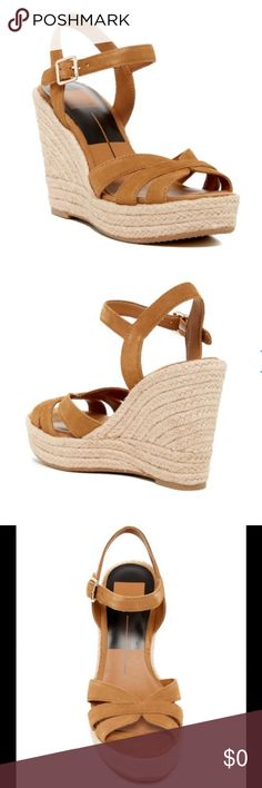 """Dolce Vita Tracey Espadrille Wedge Sandal Slender straps dials up a vacation-style espadrille that's lifted on a woven jute platform wedge. True to size. Size: 10M - Open toe - Multi vamp straps - Ankle strap with buckle closure - Braided jute wrapped wedge heel and platform - Approx. 4.5"""" heel, 1.5"""" platform - Imported Dolce Vita Shoes Espadrilles"""