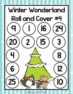 Winter Wonderland Multiplication Roll and Cover Freebie - Fourth and Ten - TeachersPayTeachers.com