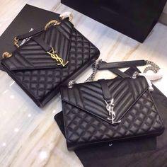 f5ed5b30cb9 Saint Laurent Envelope Medium Bag 487206 Black Ysl Bag, Clutch Bag, Replica  Handbags,