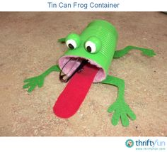 Tin Can Frog Container