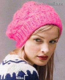 Теплая зимняя шапка