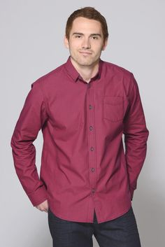 Great gift ideas for him! Descendant of Thieves Check Me Red Long Sleeve Button Down Shirt | South Moon Under