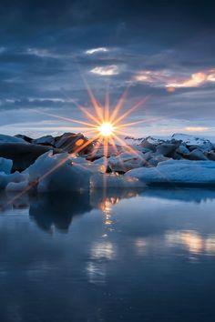 Glacier Sunset, Iceland