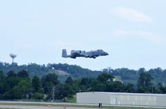 """Maj. Doug Davis, 188th Detachment 1 commander, and Lt. Col. Marty Dahlem, 188th Operations Support Squadron commander, flew the 188th Fighter Wing's final A-10 Thunderbolt II """"Warthog"""" training mission May 16, 2014, at Ebbing Air National Guard Base, Fort Smith, Arkansas. (U.S. Air National Guard photo by Tech Sgt. Josh Lewis/released)"""