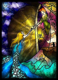 Peter & Wendy stained glass