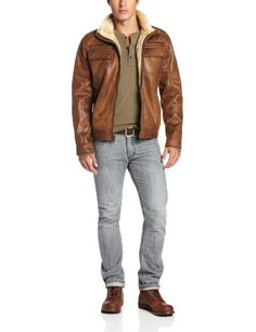 Calvin Klein offer the best Calvin Klein Men's Faux Shearling Bomber, Cognac, X-Large. This awesome product currently in stocks, you can get this Apparel now for $295.00