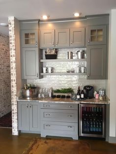 Astonishing Built Kitchen Pantry Design Ideas 31 There are two very important options that should be considered in every large kitchen pantry cabinet design. Although these options … Kitchen Pantry Design, Kitchen Redo, New Kitchen, Kitchen Ideas, Pantry Ideas, Kitchen Wet Bar, Kitchen Pantries, Pantry Cabinets, Kitchen Counters