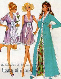 Vintage McCalls 2177 UNCUT Misses Night Gown Baby by RomasMaison