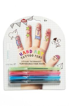 NPW 'Hand Art' Tattoo Pens (Set of 4) available at #Nordstrom