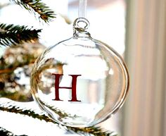 Ornaments-Christmas  diy clear use stickers?   inspired idea