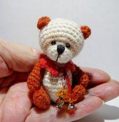 MINI / MINIATURE THREAD CROCHET BEAR by THREAD ARTIST BECKY 1 DAY ONLY | eBay