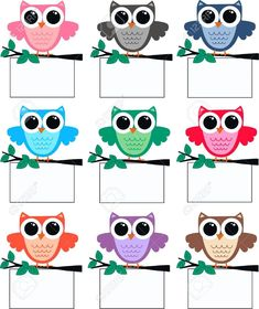 a big cute colourful owl family Owl Theme Classroom, Classroom Board, Classroom Labels, Classroom Rules, Birthday Bulletin Boards, Class Decoration, School Decorations, Owl Clip Art, Owl Vector