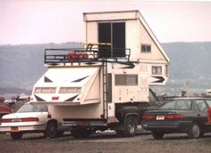 Custom Camper Deck Slide Outs | Del Rey Kamp King Sky Lounge Truck Camper