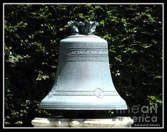Photograph of the Oishei Memorial Bell at Forest Lawn Cemetery in Buffalo, New York. The Fine Art America watermark will not be on your purchased product. Prices start at $4.30  #bells #Oishei #cemetery #Buffalo #NewYork