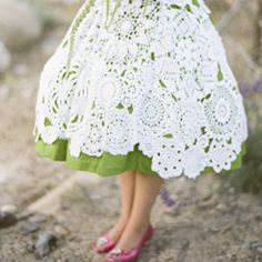 Lace skirt - would love to make this out of old doilies :)
