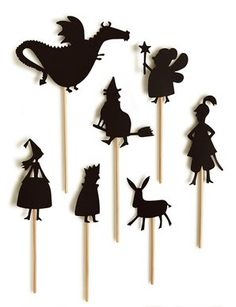 . . . they'd tell fantastic stories of medieval court life and dragons and castles!     I just saw these fantastic shadow puppets at Kate's ...