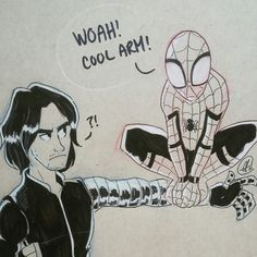 Bucky and Spiderman