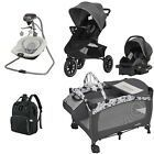 Evenflo Toddler Combo Set Jogger Stroller Car Seat Baby Swing Playard Diaper Bag Baby Jogger Stroller, Stroller Bag, Umbrella Stroller, Diaper Bag Backpack, Baby Girl Bassinet, Baby Boy, Baby Jogger City Select, Baby Swings, Baby Diaper Bags