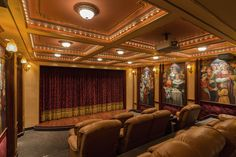 This amazing theater is located inside this Las Vegas home!