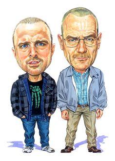 Jesse Pinkman And Walter White Painting - Jesse Pinkman And Walter White Fine Art Print