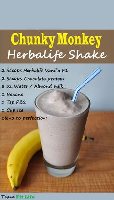 That Funky Chunky Monkey Herbalife Shake