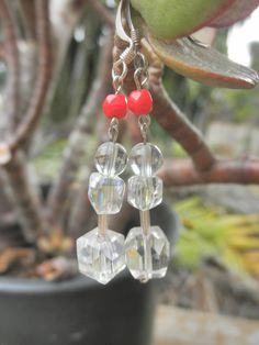 Earrings Don't forget my Number Sparkly glass and by MindOfAsh, $15.00