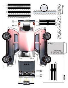 Paper cars, how to make (model, templates, origami, race auto) Paper Model Car, Paper Car, Paper Models, Daihatsu Terios, Paper Machine, Most Popular Cars, Fiat 600, Mitsubishi Pajero, Benz E Class