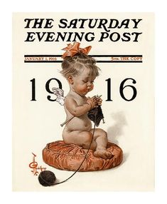 Illustration vintage: New year's baby